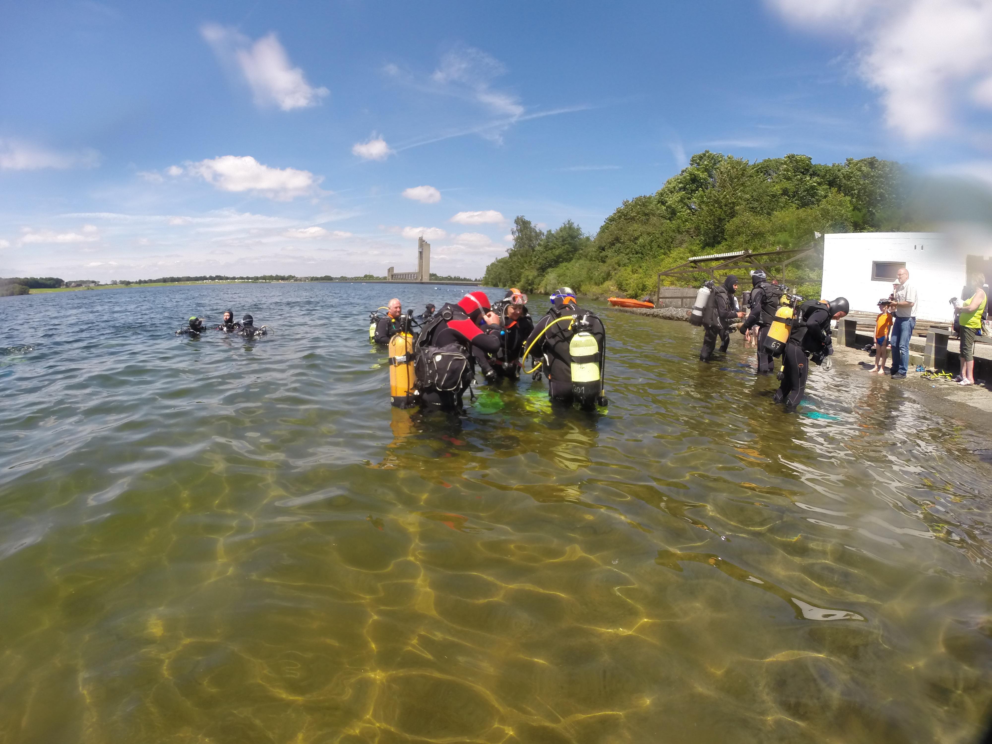 le GASM plongée Reims au lac de l'Eau d'heure